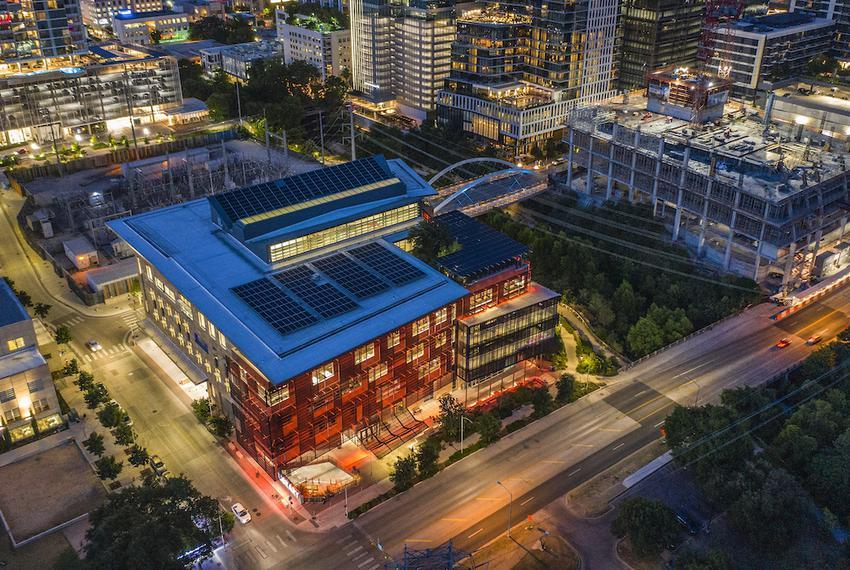 The Austin Central Library, 710 W Cesar Chavez St, Austin, Texas.   The Austin Central Library was built with energy savin…