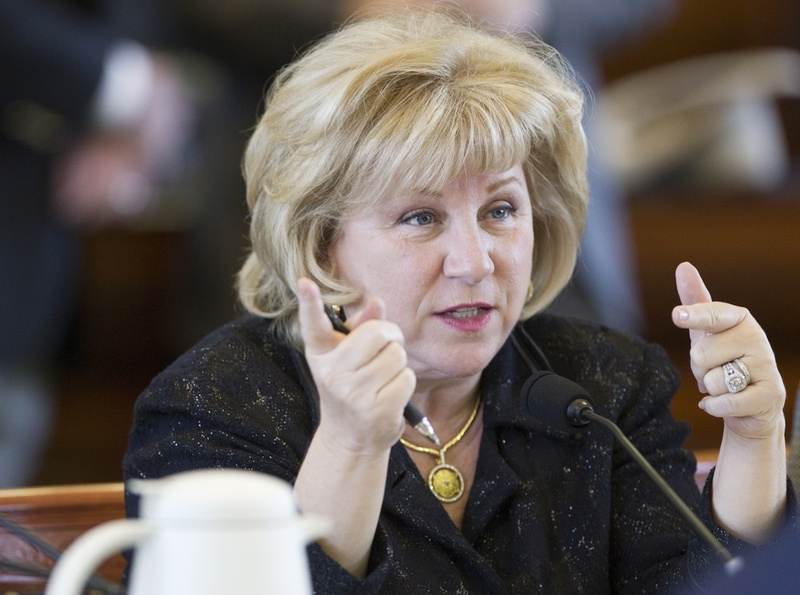 Sen. Jane Nelson, R-Flower Mound, during a Health and Human Services committee hearing on Feb. 19, 2013.