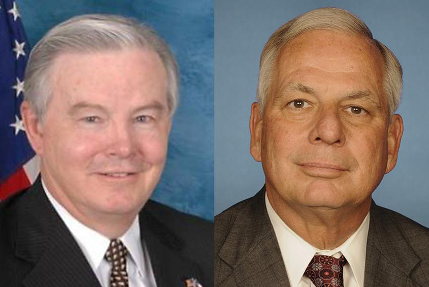 U.S. Rep. Joe Barton, R-Ennis, and U.S. Rep. Gene Green, D-Houston.