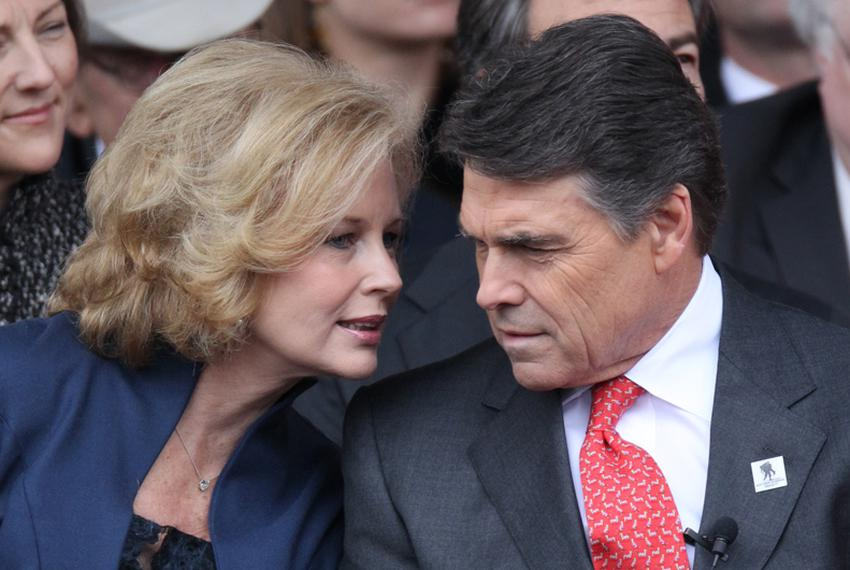 Inaugural of Texas Governor Rick Perry on the south steps of the Texas Capitol 01-18-11.