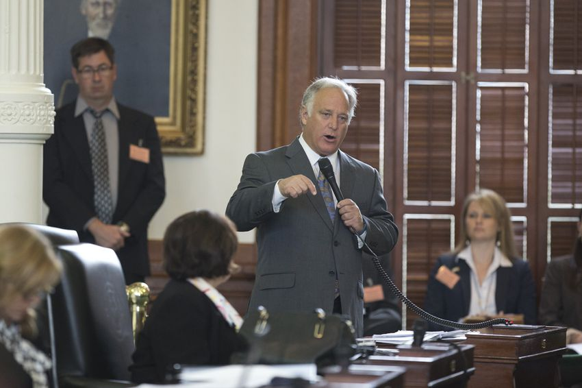 """Sen. Kirk Watson, D-Austin, debates changes that would affect the so-called """"two-thirds rule"""" in the Texas Senate on Jan. 21, 2015."""