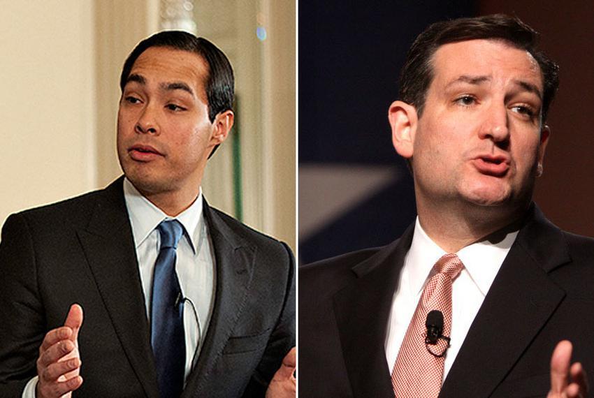 Joaquin Castro and Ted Cruz.