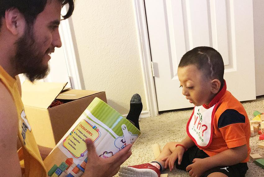 Braulio De La Cruz and his son, 3-year-old Noah Leonardo.