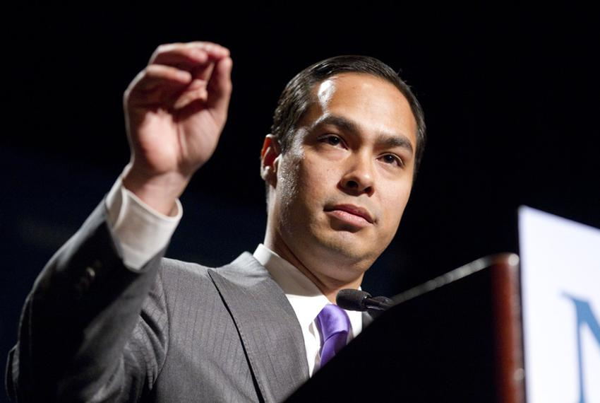 San Antonio Mayor Julián Castro delivering a speech to the National Association of Latino Elected and Appointed Officials ...
