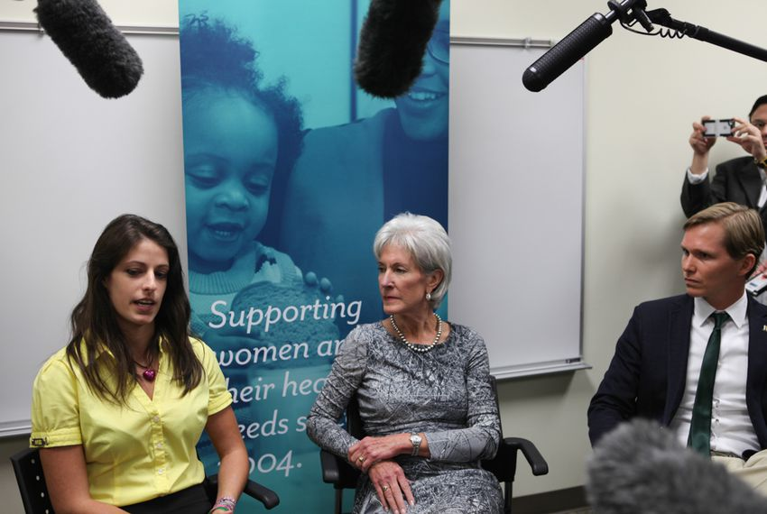 Kathleen Sebelius discusses Healthcare.gov with Kat Richards and Mark Sullivan who just used the site to sign up