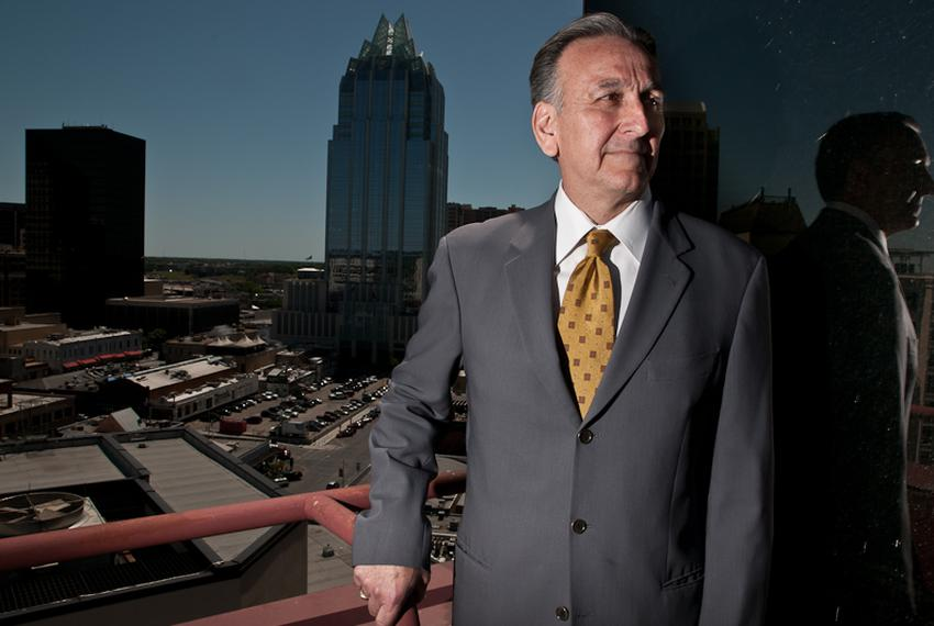 Texas Workers' Compensation Commissioner Rod Bordelon poses on a balcony of the William P. Hobby Jr. Building in downtown ...