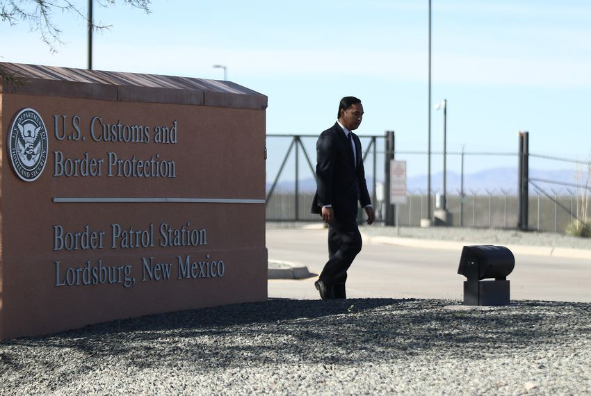 U.S. Rep. Joaquin Castro, D-San Antonio, and other current and incoming members of Congress toured the U.S. Customs and Border Protection station in Lordsburg, N.M. on Dec. 18, 2018 to learn more about the in-custody death of a 7-year-old immigrant girl.