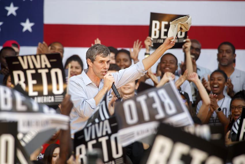 Democratic Presidential candidate Beto O'Rourke speaks at Texas Southern University in Houston on March 30, 2019.