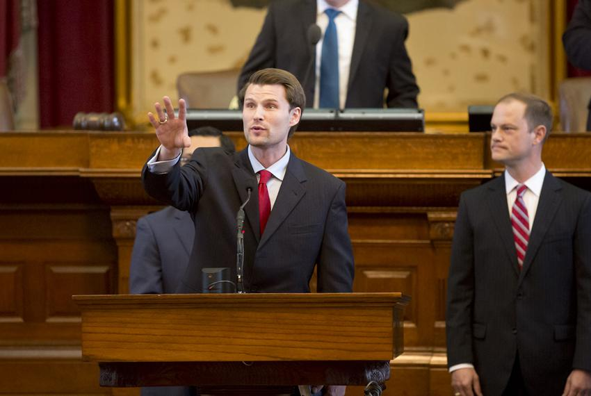 State Rep. Leighton Schubert, R-Caldwell, on the House floor on March 3, 2015.