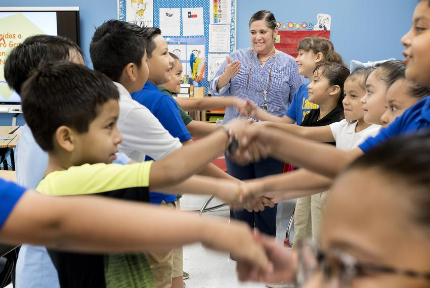 Isabel Nava teaches second and third grade ESL classes at Lamar Elementary School in San Antonio.