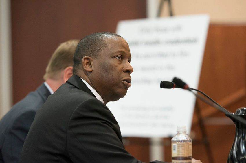 Charles Smith, executive commissioner of the Texas Health and Human Services Commission, testified August 15, 2016, before the House State Affairs Committee on contracting procedures.