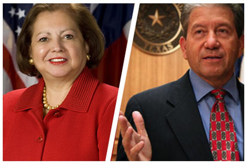 Texas Secretary of State Hope Andrade and Hidalgo County District Attorney René Guerra