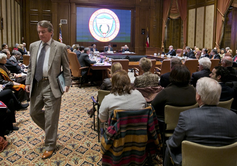 University of Texas President Bill Powers during the December 12th, 2013 UT System  Board of Regents meeting in Austin, Texas