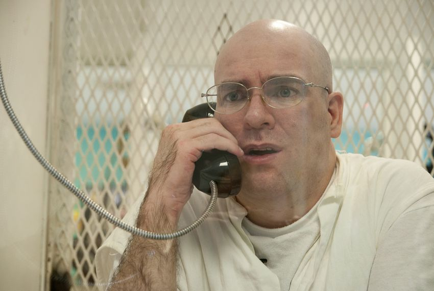 Death row inmate Larry Swearingen during an interview at the Polunsky Unit in Livingston, Texas. He was sentenced to death for the murder of Melissa Trotter. He says he is innocent and that she was killed while he was already in jail for other offenses.