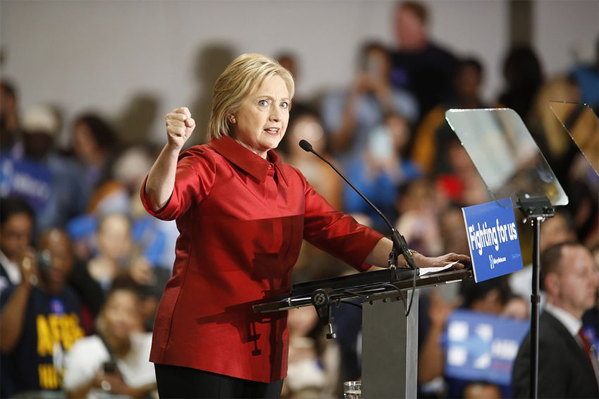 Hillary Clinton speaks to supporters at Texas Southern University in Houston, shortly after winning the Nevada caucus on Saturday, Feb. 20, 2016.