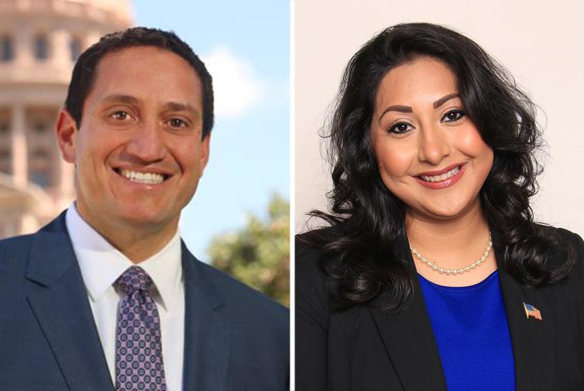 Trey Martinez Fischer and state Rep.Diana Arévalo, D-San Antonio.