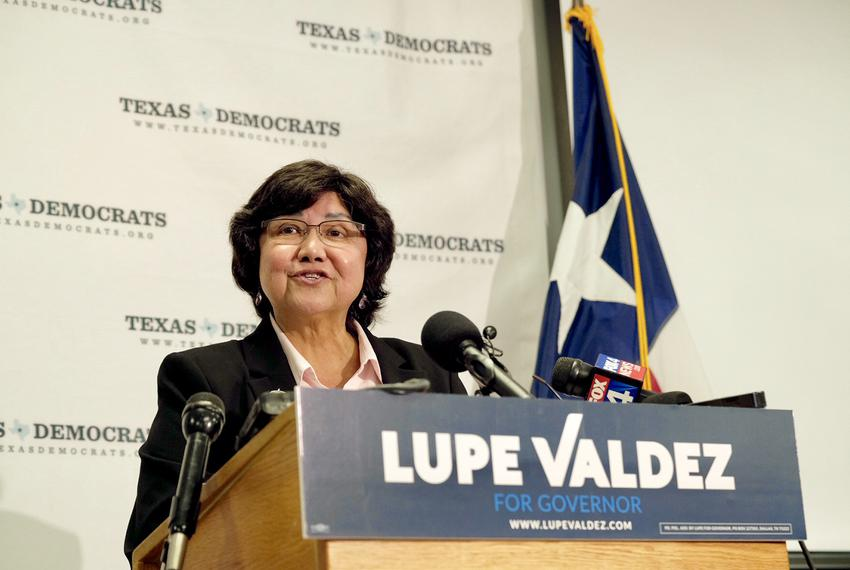 Former Dallas Co. Sheriff Lupe Valdez announces her run as a Democratic candidate for governor at the Texas Democratic Party…
