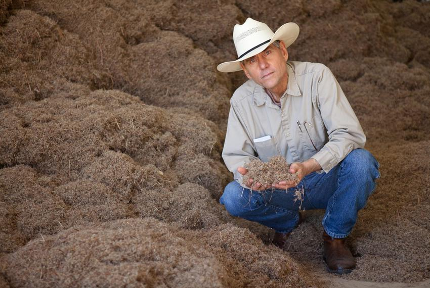 Bill Neiman, owner of Native American Seed, at his seed-cleaning facility in Junction, TX, Jan. 18, 2011.