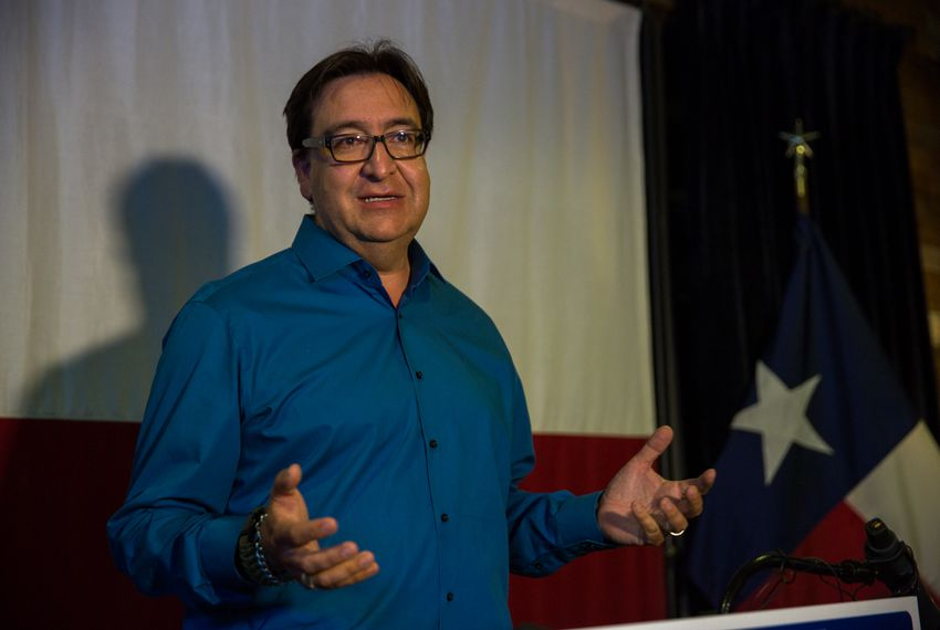 Former US Rep Pete Gallego, D-Alpine, concedes the 2016 Texas 23rd Congressional District race to Will Hurd, a San Antonio Republican, on Nov. 9, 2016