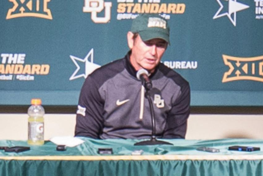 Baylor University football head coach Art Briles speaks at a press conference on the Baylor campus on Sept. 6, 2014.