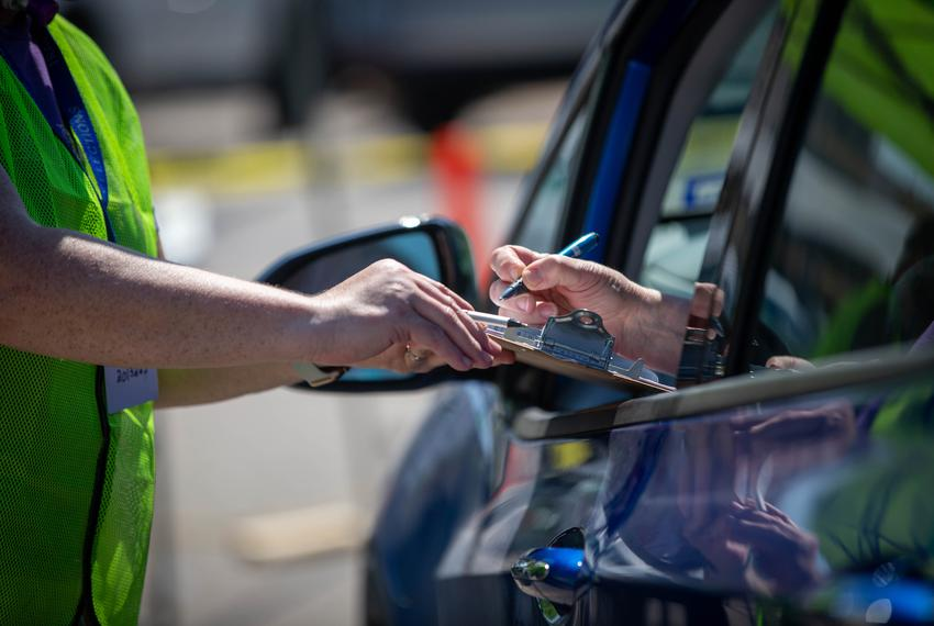 The Travis County Tax Office at 5501 Airport Blvd is now the only drive-thru location open for hand delivery of mail ballo...