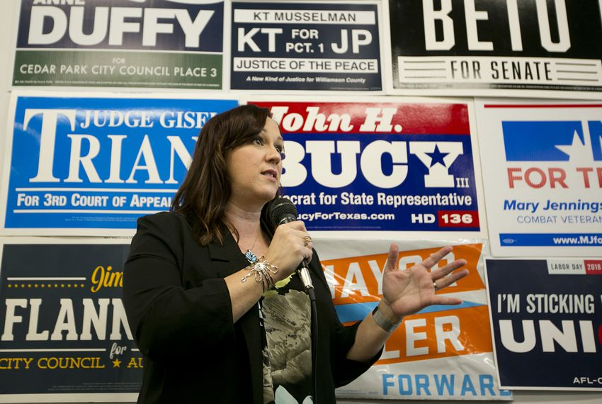 MJ Hegar has been the top fundraiser and got the endorsement of the Democratic Senatorial Campaign Committee late last year, but polls show large portions of voters are still undecided and no candidate has broken away.