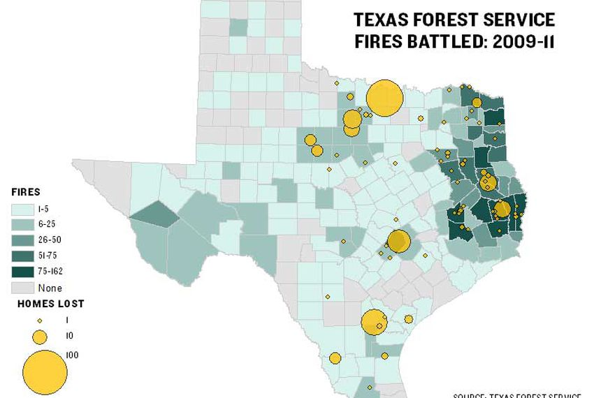 Texas Agency Battled 2,600 Fires Since 2009 | The Texas Tribune
