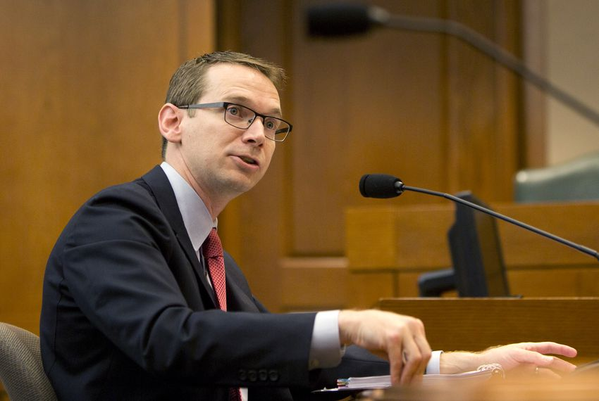 TEA Commissioner Mike Morath testifies before the House Public Education Committee at the state capitol.