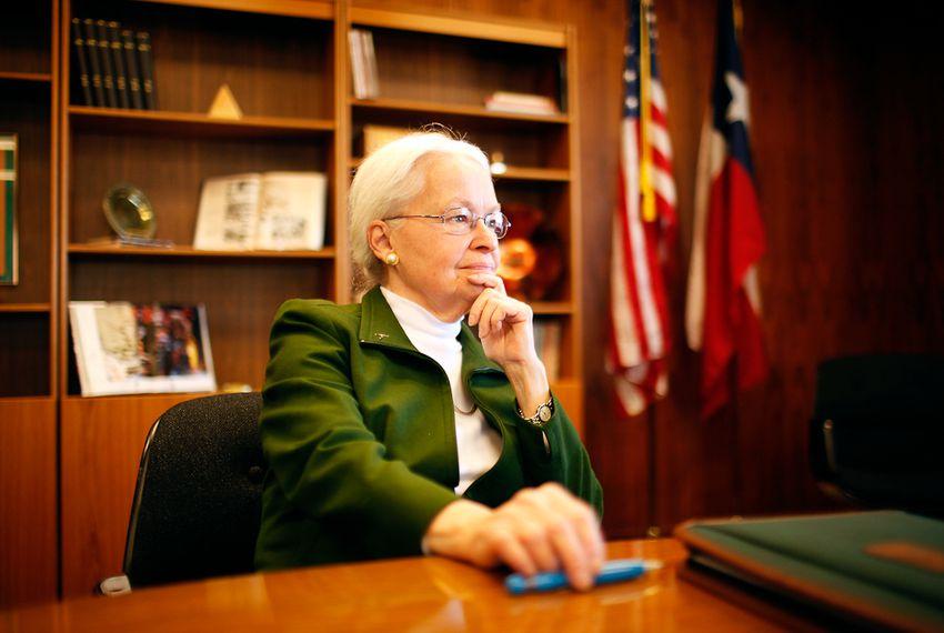 UTEP President Dr. Diana Natalicio on Jan. 30, 2012, in El Paso, Texas. Dr. Natalicio was named president of UTEP in 1988.