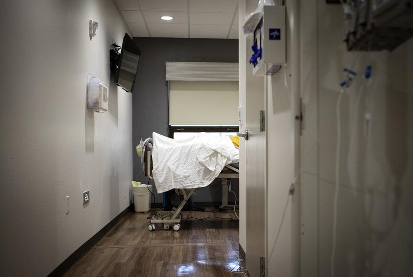 The COVID-19 unit at the DHR Health Center in Edinburg on June 30, 2020.