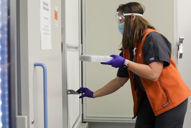 Vaccines for the new coronavirus arrive at the University of Texas at Austin.
