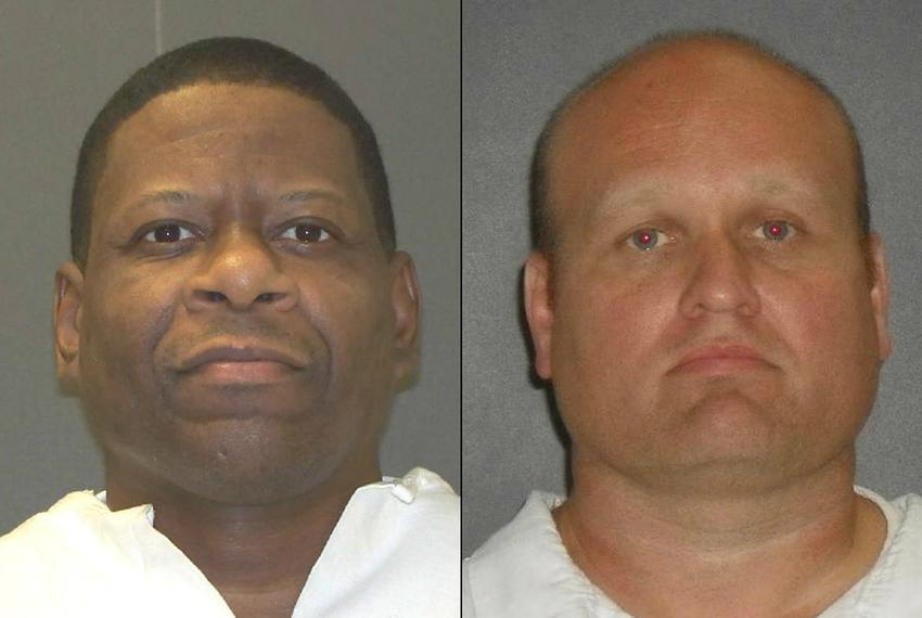 Death row inmate Rodney Reed (l.), scheduled to be executed on March 5, 2015, and Jimmy Lewis Fennell. Fennell is the form...
