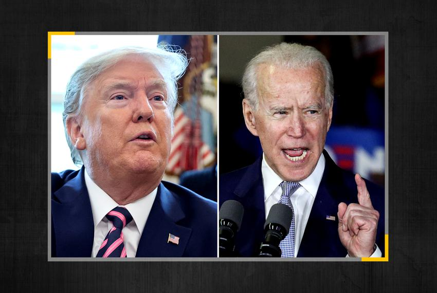 President Donald Trump and Democratic candidate for president Joe Biden.