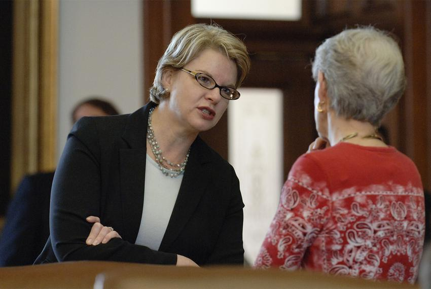 Then-U.S.Secretary of EducationMargaret Spellings at the Texas Capitol on Oct. 30, 2005.
