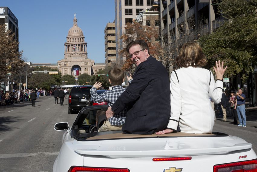 Lt. Gov. Dan Patrick during inaugural parade up Congress Ave. on January 20th, 2015
