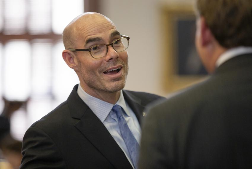 House Speaker Dennis Bonnen, R-Angleton, on the House floor on May 6, 2019.