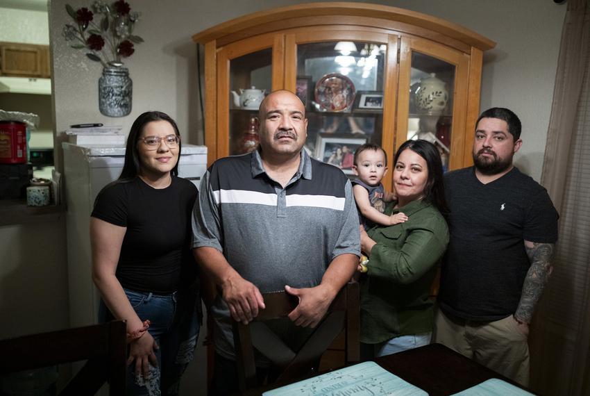 Navy Veteran Frank De La Cruz at his new home on Sept. 17, 2020, in El Paso. De La Cruz was deported to Mexico after being a…