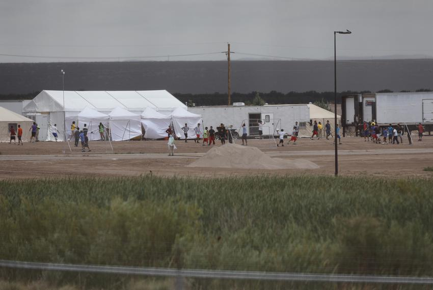 The tent city at Tornillo Port of Entry near El Paso on June 16, 2018. The facility was created to house immigrant children …