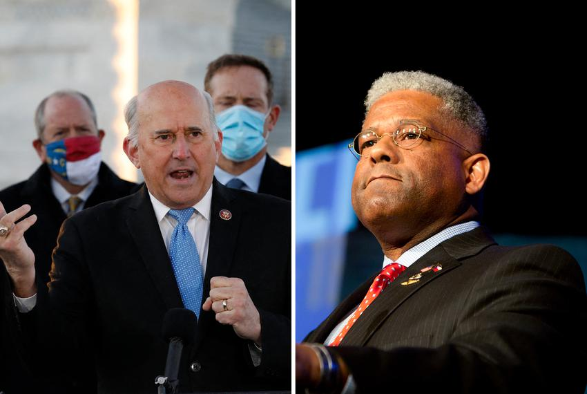 U.S. Rep. Louie Gohmert, R-Texas, and Chairman of the Texas Republican Party, Allen West.