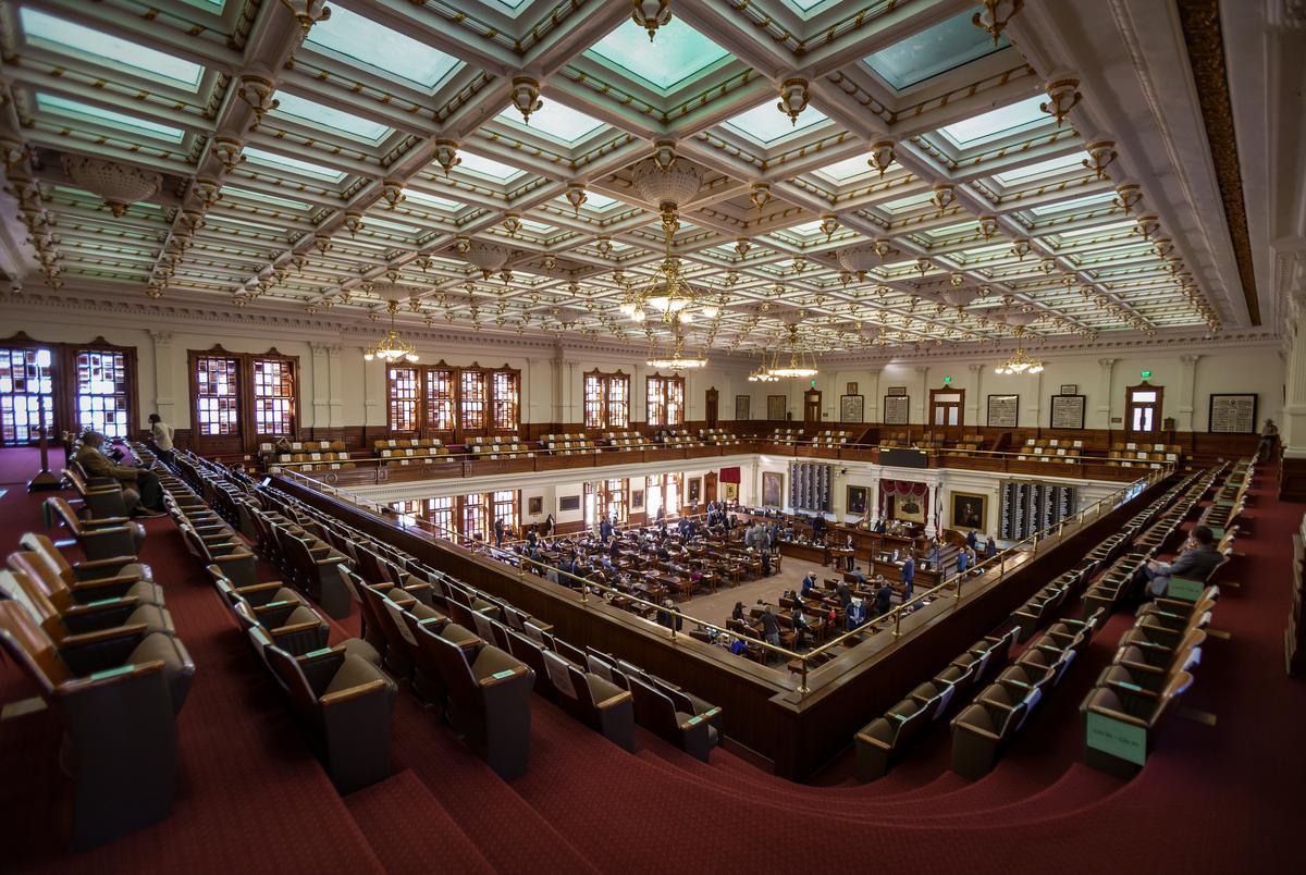 The Texas House of Representatives on Jan. 13, 2021.