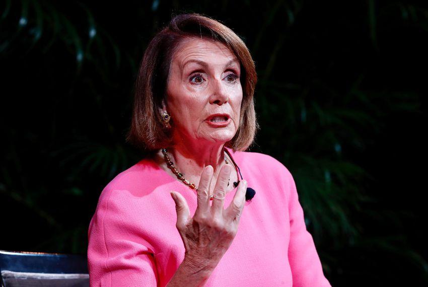 U.S. House of Representatives Minority Leader Nancy Pelosi, D-California, speaks with Alex Wagner during the Texas Tribune Festival on Sept. 29, 2018.
