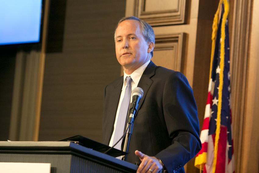 Texas Attorney General Ken Paxton spoke on June 22, 2105, at an event hosted by the Texas Public Policy Foundation discuss...