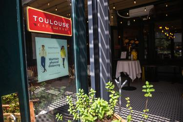 Toulouse Cafe and Bar in Austin opened for dine-in services.