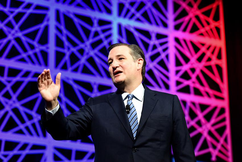 Former presidential candidate and U.S. Sen. Ted Cruz speaks at the state Republican convention in Dallas, Texas on May 14, 2…
