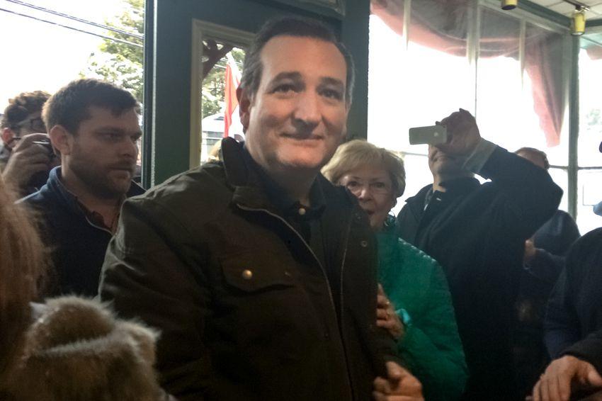 U.S. Sen. Ted Cruz campaigns in New Hampshire.