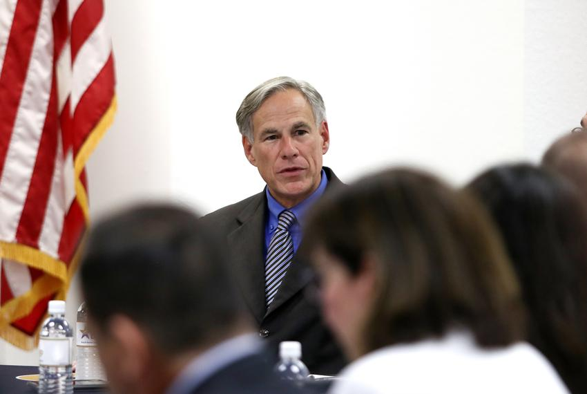 Gov. Greg Abbott meets with El Paso area state legislators on Wednesday, Aug. 7, 2019, four days after a mass murderer kil...