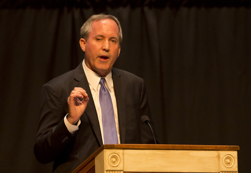 Texas Attorney Gen.  Ken Paxton, speaks at The Texas Response: Pastors, Marriage & Religious Freedom event at the First Baptist Church in Pflugerville, Texas on September 29, 2015