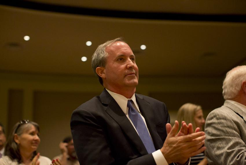 Texas Attorney Gen.  Ken Paxton, during The Texas Response: Pastors, Marriage & Religious Freedom event at the First Baptist…