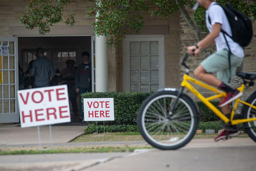 Williamson Co. residents vote at Southwestern University's Howry Center in Georgetown on March 3, 2020.