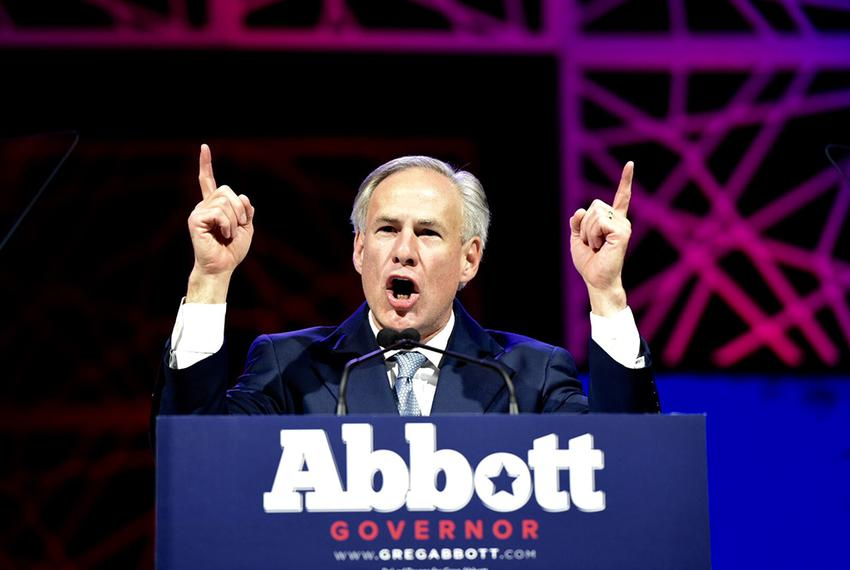 Gov. Greg Abbott gave the opening speech at the state republican convention in Dallas, Texas on May 12, 2016.
